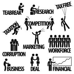 Business Finance Businessman Entrepreneur Employee Worker Team