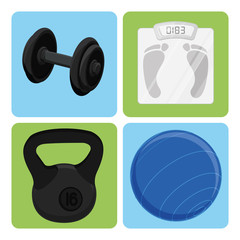 Set Of Sport And Gym Elements