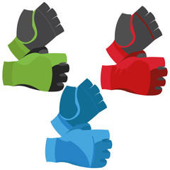Fingerless Gloves Illustration Isolated On White Background