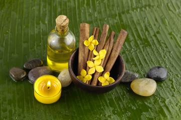 Health spa and banana leaf
