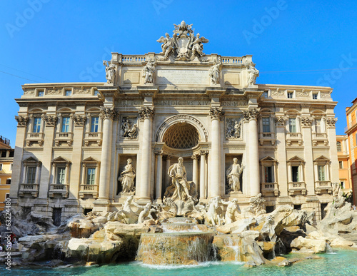 Fountain di Trevi in Rome, Italy