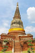 Buddhist temple ruins of Wat Mahathat in Ayutthaya, Thailand
