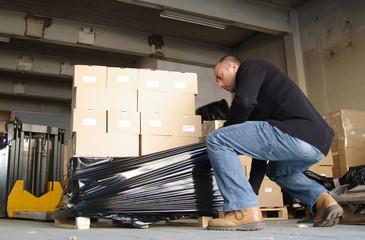 transport logistique - préparation de palette