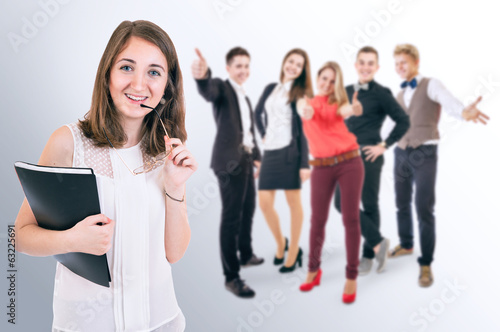 Attractive young people portrait