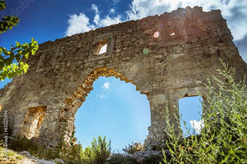 Ancient ruins  Mangup Kale, Crimea, Ukraine