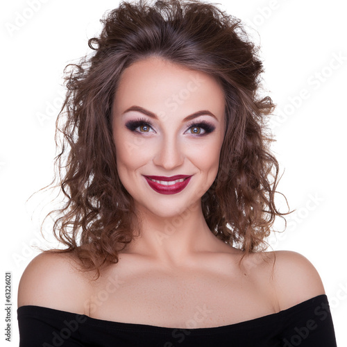Beautiful woman portrait professional make up