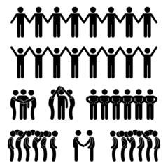 Man People United Unity Community Holding Hand