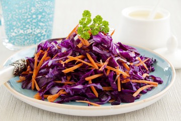 Cole Slaw Salad of red cabbage.