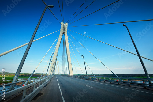 Murom bridge through Oka River