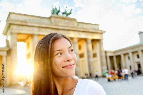 Berlin people - woman at Brandenburg Gate