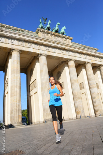 Berlin lifestyle - running woman in Germany