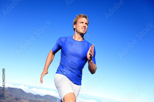 Athlete runner sprinting running to success