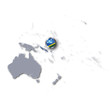 Pazifikkarte mit Salomonen