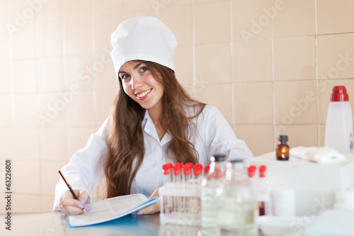 nurse working in laboratory