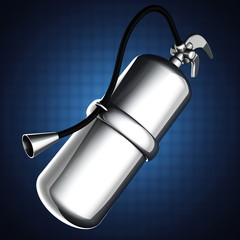 metallic fire extinguisher