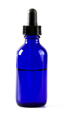 Eye Dropper Bottle Isolated with clipping path