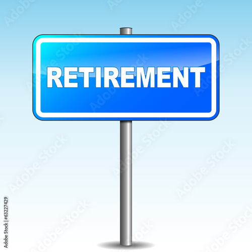 Vector retirement signpost