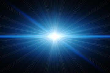 Blue light in space