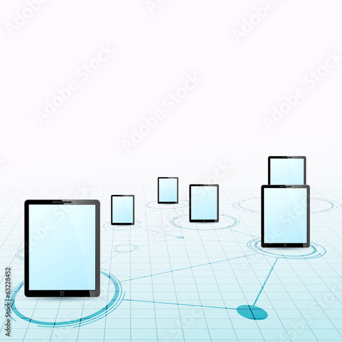 Tablet device network background