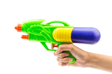 Gun water toy isolated white background