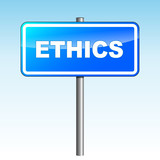 Vector ethics signpost poster