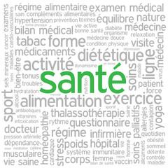 """Nuage de Tags """"SANTE"""" (sports médecine exercice physique poids)"""