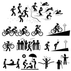 Triathlon Marathon Swimming Cycling Sports Running