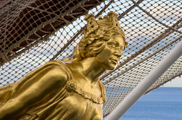 figurehead of Juan Sebastian Elcano