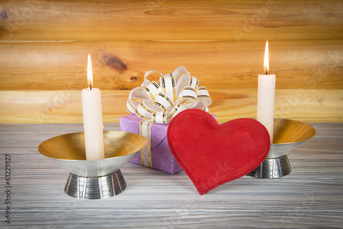Gift romantic evening by candlelight