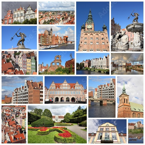 Gdansk - collage set
