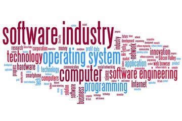 Software industry - word cloud illustration