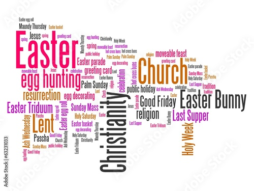 Easter - word cloud illustration