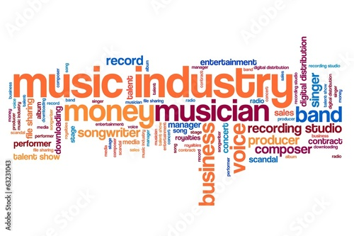Music industry - word cloud illustration