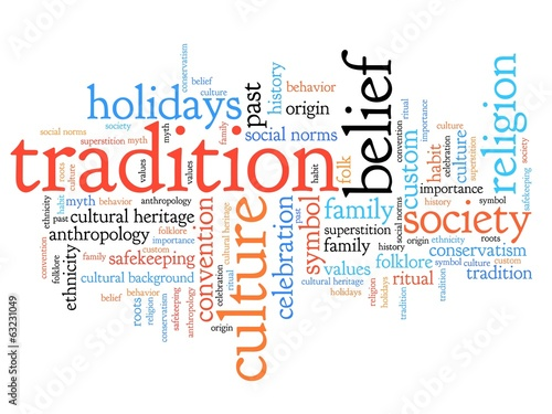Traditions - word cloud illustration