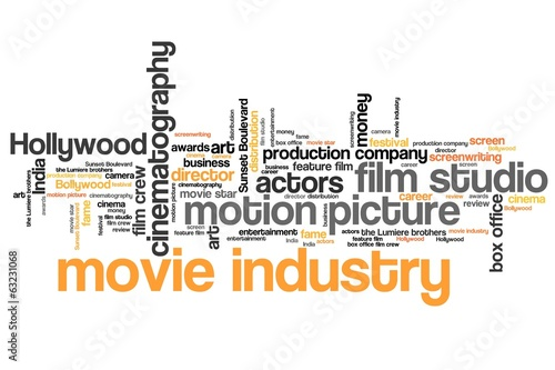 Movie industry - word cloud illustration
