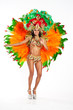 canvas print picture - Brazilian Samba Dancer