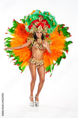 canvas print picture Brazilian Samba Dancer