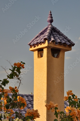 Arabic style chimney in Morocco