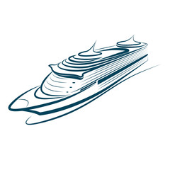 cruise ship vector.illustration