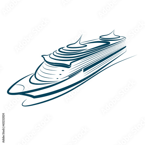 cruise ship vector.illustration