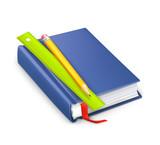 Schoolbook, vector icon poster