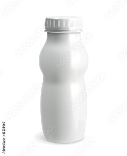 White plastic bottle vector object