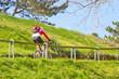Bergauf Fahrt mit dem Mountainbike