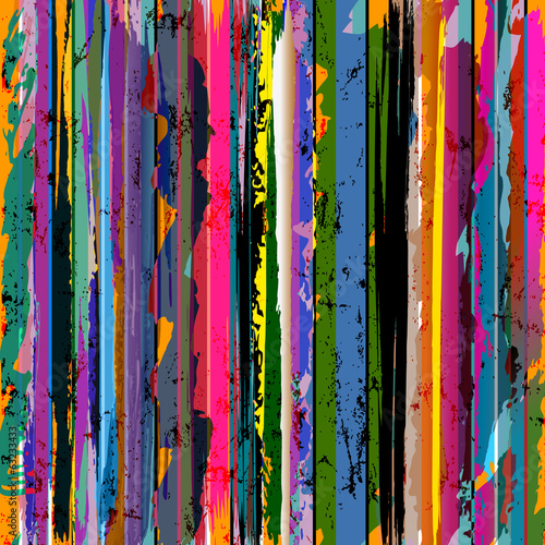 abstract stripes, paint strokes and splashes