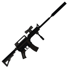 Rifle, vector illustration