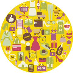 Shopping related icons -illustrations