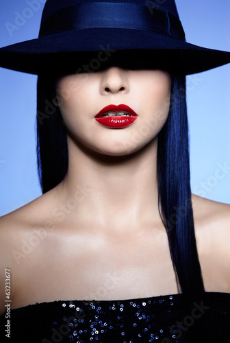 Woman in hat