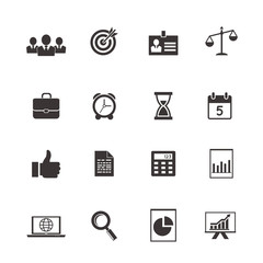 business and time icons