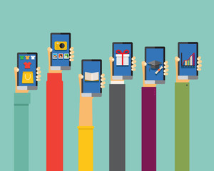 mobile apps illustration