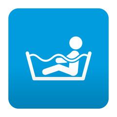 Etiqueta tipo app azul simbolo jacuzzi